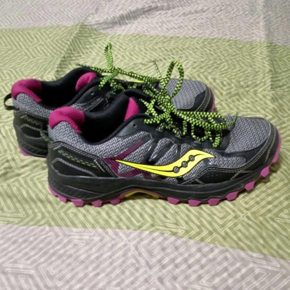 09ada558 Saucony Black Grey Pink Neon Green sneakers